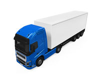 Blue Cargo Delivery Truck Stock Image