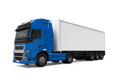 Blue Cargo Delivery Truck Stock Photo