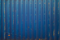 Blue cargo ship container texture Royalty Free Stock Images