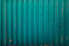 Blue cargo ship container texture Royalty Free Stock Photos
