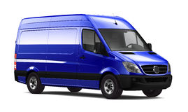 Blue cargo van Stock Photography