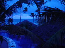 Blue Caribbean. Blue Night on the Caribbean Royalty Free Stock Images