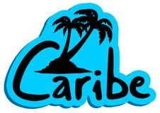 Blue caribe Royalty Free Stock Image