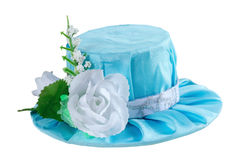 Blue carnival hat for a princess Royalty Free Stock Image