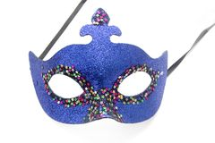 Blue carnival mask. On white Royalty Free Stock Photo