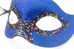 Blue carnival mask. On white Stock Images