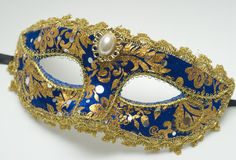 Blue carnival mask Royalty Free Stock Photos