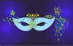 Blue carnival mask Stock Photo