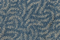 Blue carpet floor. Texture background Stock Images