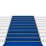 Blue carpet with ladder Stock Image