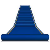 Blue carpet with ladder Stock Photos