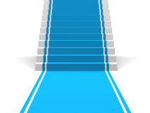 Blue Carpet and Stairs Royalty Free Stock Photo