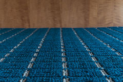 Blue carpet texture Royalty Free Stock Photography