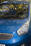blue Cars headlight Royalty Free Stock Image