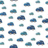 Blue cars seamless background tile Stock Photo