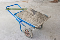 Blue cart cement Royalty Free Stock Image