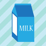 Blue carton of milk. Simple blue carton of milk Stock Image