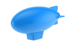 Blue cartoon airship Stock Photo