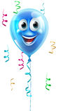 Blue cartoon balloon character Stock Images
