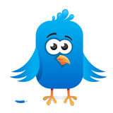 Blue cartoon bird Stock Photography