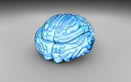 Blue cartoon brain illustration Royalty Free Stock Photo