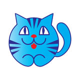 Blue cartoon cat Royalty Free Stock Photo