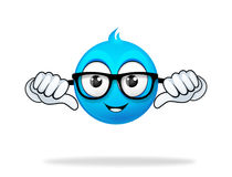 Blue cartoon character Royalty Free Stock Images