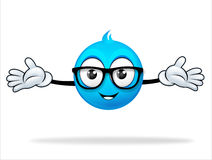 Blue cartoon character Stock Photography