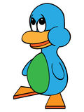 Blue Cartoon Duck Stock Images