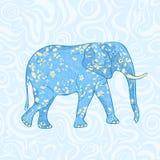 Blue Cartoon Elephant Royalty Free Stock Image