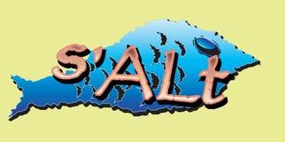 Blue cartoon fish Royalty Free Stock Photo
