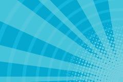 Blue cartoon light rays pop art retro background Stock Photos