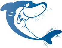 Blue cartoon shark Royalty Free Stock Photo