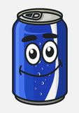 Blue cartoon soda or soft drink can Stock Photo