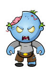Blue Cartoon Zombie Character Royalty Free Stock Images