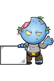 Blue Cartoon Zombie Character Stock Images