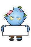 Blue Cartoon Zombie Character Stock Photo