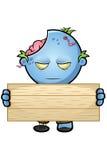 Blue Cartoon Zombie Character Stock Photos