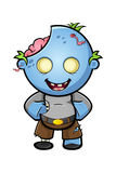 Blue Cartoon Zombie Character Stock Photography