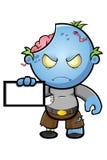 Blue Cartoon Zombie Character Royalty Free Stock Photo