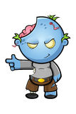 Blue Cartoon Zombie Character Stock Image