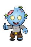 Blue Cartoon Zombie Character Royalty Free Stock Photography