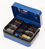 Blue Cash Box Royalty Free Stock Photography