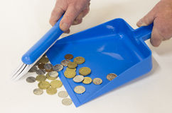 Blue Cash Box Stock Image