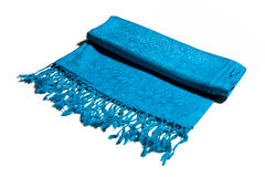 Blue cashmere scarf Royalty Free Stock Images
