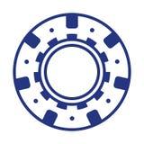 Cool blue casino poker chip. Blue casino poker chip vector game chance illustration isolated leisure risk play gambling color design luck sport success vegas stock illustration