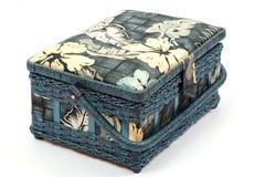 Blue Casket For Needlework Stock Photo