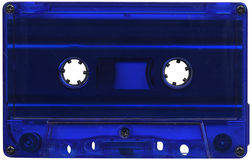 Blue cassette tape Royalty Free Stock Photos