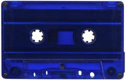 Blue cassette tape. Retro blue plastic cassette tape Royalty Free Stock Photos