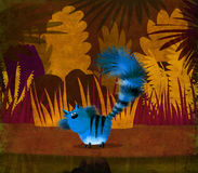 Blue Cat in Jungle Royalty Free Stock Photo